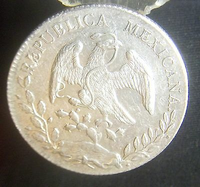 1895 AM Mexico Cap & Rays Silver 8 Reales Libertad MS AU