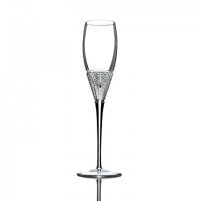 John Rocha at Waterford Muse Leda Flute Cut Crystal Champagne Glass NEW