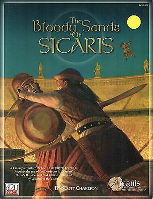 Arcanis-The Bloody Sands of Sicaris-d20-RPG-Roleplaying Game-(SC)-new-very rare