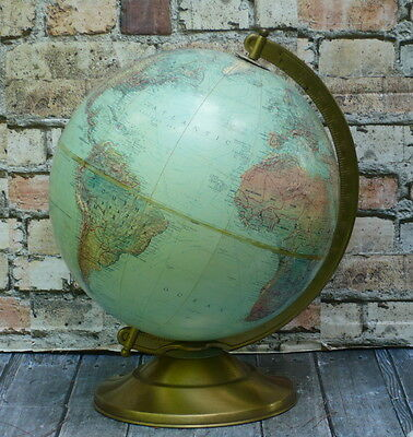 "Vintage Replogle 12"" Raised Relief Globe pre USSR Breakup"