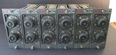 RARE SET of 6 VINTAGE BAND PASS FILTERS ~ U.S. ARMY SIGNAL CORPS ~ PHILCO ~ 1951