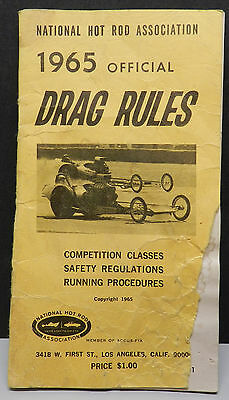 Nhra 1965 Rule Book Drag Ford Dodge Dragster Chevy Garlits Pontiac Plymouth