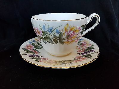 Paragon Floral Scalloped Edged Tea Cup and Saucer