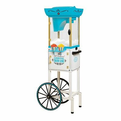 Tall Vintage Snow Cone Machine Cart Shaved Ice Maker Nostalgia