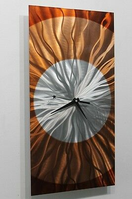 Metal Abstract Modern Painting Wall Art Clock Sculpture - Dusk By Jon Allen