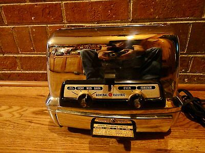 Vintage retro 1950's General Electric GE TOASTER OVEN Chrome No. 45T83.