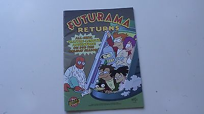 Futurama Returns Ashcan Comic Bongo SDCC 2007