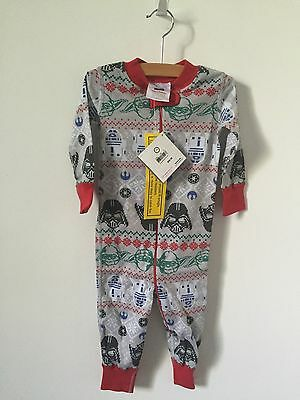 NWT Hanna Andersson Organic Baby Sleepers Christmas Star Wars Size 9-18 Months