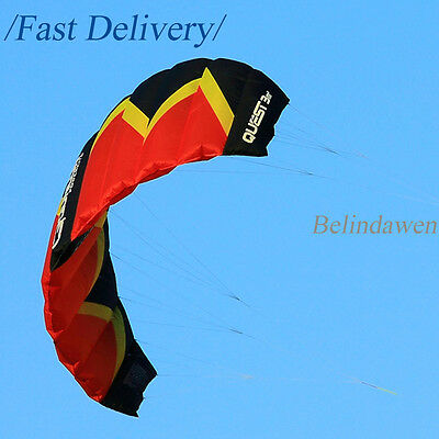 Large 3 Sqm Dual Line Power Parachute Kite Easy to Fly for Beginners Outdoor Fun