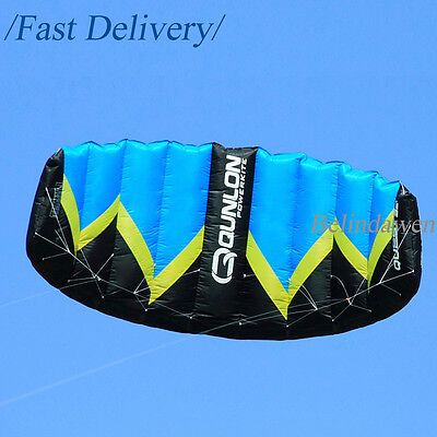 Blue Large 3 Sqm Dual Line Control Power Sports Kite Buggying BoardingTrainer