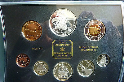 2004 Canadian 400th Anniversary First French Settlement Silver Proof Coin Set