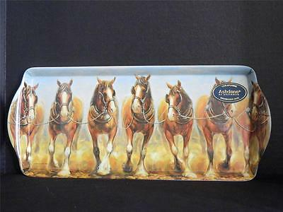 Clydesdale Magnificent  Horses Melamine Sandwich Tray  Ashdene of Australia