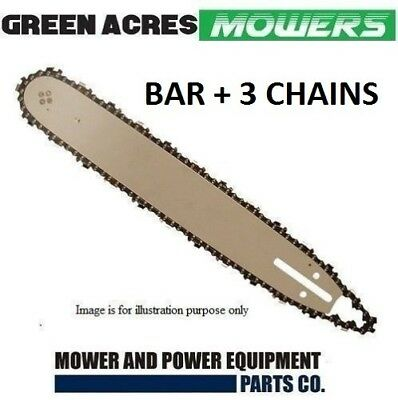 """BAR AND 3 x CHAINS CHAINSAW FITS  16"""" STIHL 55DL 3/8LP 050 009 012 021 E180 MS18"""
