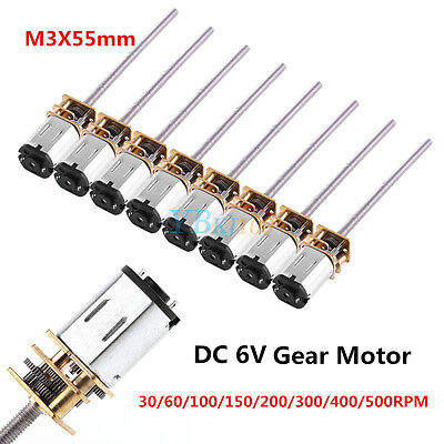 DC 6v 30-500RPM long shaft Mini Micro Metal Gear Motor Reduction Gearmotor DIY