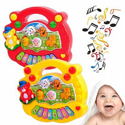New Farm Animal Piano Musical Toy Educational Developmental for Baby Kids Gift