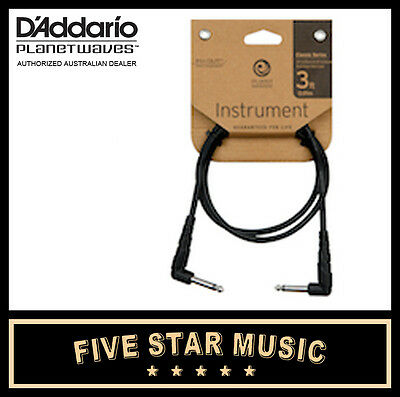 D'addario Planet Waves Classic Guitar Cable 3' Three Foot Patch Lead New Cgtpra