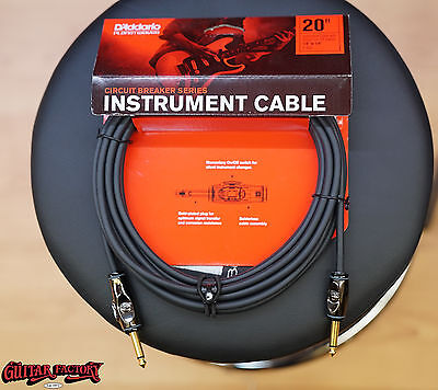 Planet Waves Circuit Breaker 20ft Instrument Cable Guitar Lead NEW D'Addario