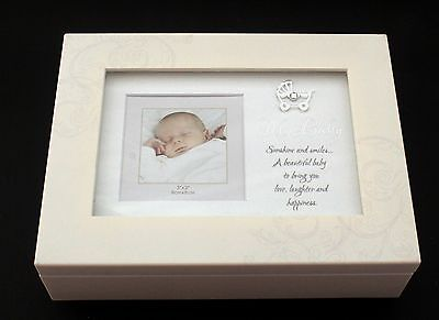 Baby Boy Girl Quality Keepsake Photo Music Box Baby Shower Gift Idea Christening