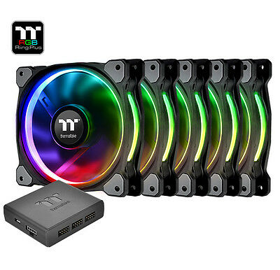 Thermaltake Riing Plus 5x120mm Pack RGB LED SOFTWARE CONTROL CL-F054-PL12SW-A