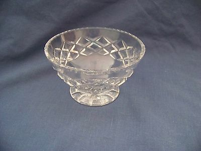 Crystal Sugar Bowl On Flat Round Base