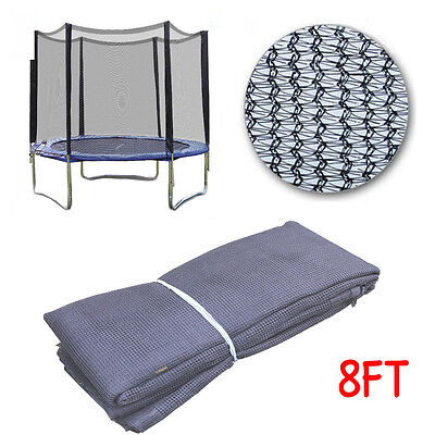 New 8Ft 6 Poles Replacement Trampoline Safety Net Only Enclosure Surround Uk