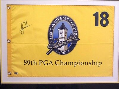 Tiger Woods Personally Hand Signed Golf Pin Flag