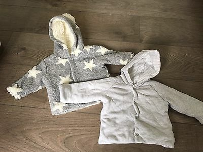 baby Boy coat Jacket 0-3 months Bundle Next M&S Good Condition