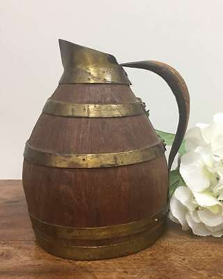 Pitcher A Vintage French Wine or Cider Wooden Jug- L230