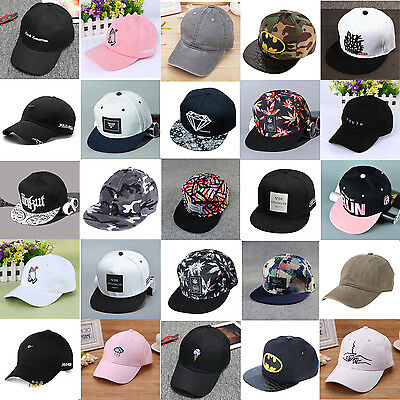 Unisex Men Women Hat Hip Hop Curved Strapback Baseball Snapback Cap Adjustable