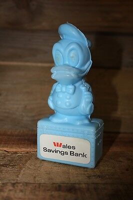 Vintage Donald Duck The Wales Money Box Bank of New South Wales Westpac Blue