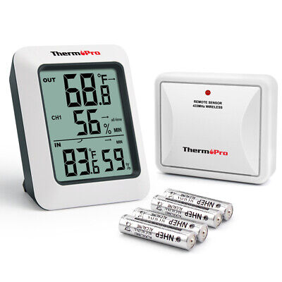 TP60 Digital Wireless Indoor Outdoor Thermo-hygrometer Humidity Monitor w/Remote