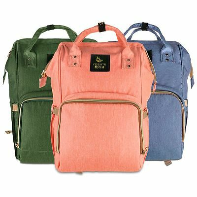 Fashion Multifunction Large Baby Diaper Backpack Mommy Changing Bag Mummy Nappy