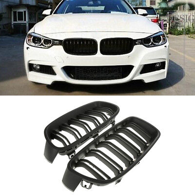 Pair Gloss Black Front Kidney Grille for BMW F30 F31 F35 3-SERIES  Sedan 2012-14