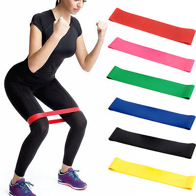 new Elastic Resistance Band Exercise Loop Home Gym Yoga Premium Fitness Bands ^