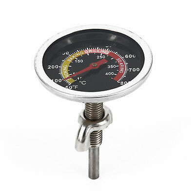 Stainless Steel Barbecue Smoker Grill Thermometer Temperature Gauge 10-400℃ ##