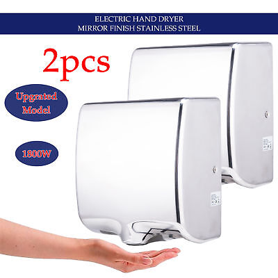 Ultra-Quiet Hand Dryer Hot/Cold Wind Switchable High Speed 100m/s 1000W