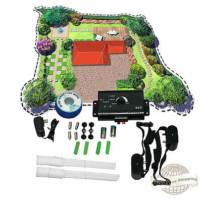 Electric Dog Fence System 2 Water Resistant Shock Collars