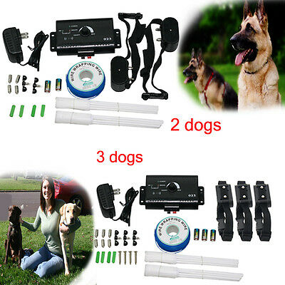 Electric Dog Fence System 2/3 Water Resistant Shock Collars