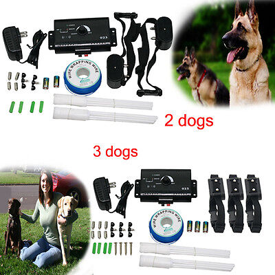 Underground Electric Dog Fence System 1/2/3 Water Resistant Shock Collars