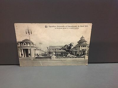 Old postcard Belgium/ Gand, exposition intern 1913, section Anglaise / pk15/30a
