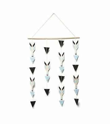 Wooden Hanging Mobile Arrows - Decorative Mobile, Child's Bedroom or Nursery