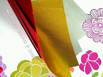 NEW! DOUBLE-SIDED THICK Craft Scrapbook Origami Chiyogami - Gold & Silver 20PCS