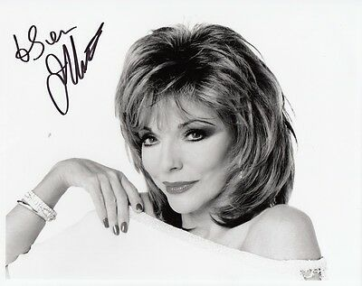 "JOAN COLLINS  - Original 10"" x 8"" Photograph PERSONALLY SIGNED To SVEN F#21"