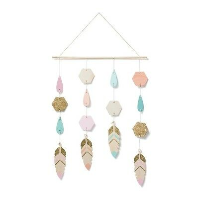 Hanging Wooden Decorative Mobile FEATHERS - Suitable for Child's Room or Nursery