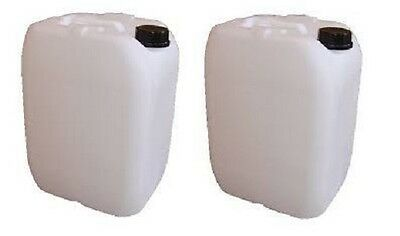 2x20L Litre Plastic Water Storage Container Food Petrol Can Fuel Jerry 20l USED