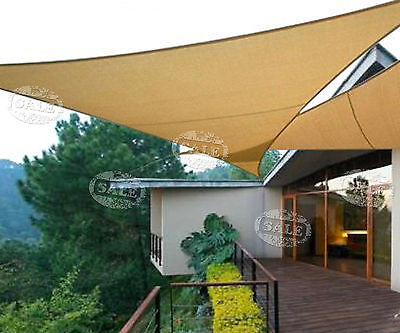 Patio Sun Shade Sail Awning Canopy Home Garden Ropes Yard PU Coated 160gsm Shade
