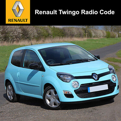 renault clio radio code service picclick uk. Black Bedroom Furniture Sets. Home Design Ideas