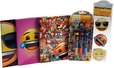 Emoji 3 Piece School Gift Set - Exercise Books, Sticky Notes, Pens