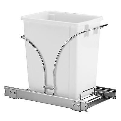 Household Essentials Under Cabinet Single Sliding Trash Can Caddy, 5 Gallon