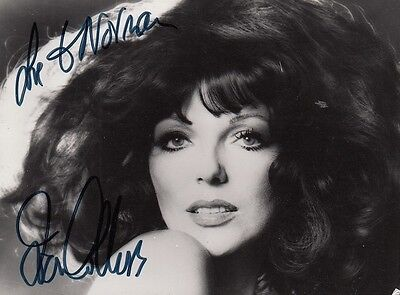 "JOAN COLLINS  - 5.5"" x 4"" Portrait Photograph PERSONALLY SIGNED To NORMA  F#21"
